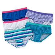 Maidenform 5-pk. Houndstooth Hipster Panties - Girls 4-14