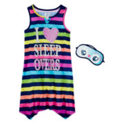 Sleep On It Sleepover Sleep Shirt and Mask - Preschool Girls 4-6x
