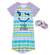 Sleep On It Wide Awake Sleep Shirt & Mask - Preschool Girls 4-6x