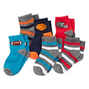 Okie Dokie® Sport Low-Cut Socks - Boys 2-6