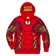 Iron Man Costume Fleece Hoodie - Boys 8-20