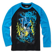 Batman Raglan Graphic Tee - Boys 8-20