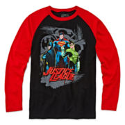Justice League Raglan Graphic Tee - Boys 8-20