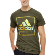 adidas® Stamp Short-Sleeve Logo Tee