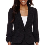 Hollywould 3/4-Sleeve Pinstriped Jacket