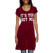 Self Esteem® Short-Sleeve High-Slit T-Shirt