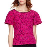 Worthington® Short-Sleeve Woven Blouse