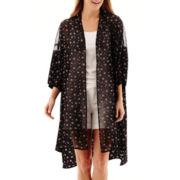 a.n.a® Elbow-Sleeve Kimono Duster- Petites