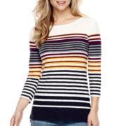 Stylus™ 3/4-Sleeve Striped T-Shirt