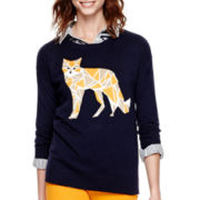 Stylus™ 3/4-Sleeve Intarsia Sweater - Tall