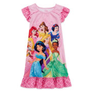 Disney Collection Princess Nightgown - Girls 2-10