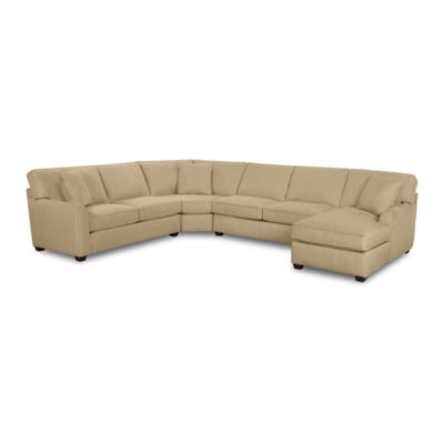 Fabric Possibilities Sharkfin-Arm 4-pc. Left-Arm Loveseat/Chaise Sectional