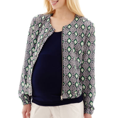jcpenney.com | Maternity Print Bomber Jacket - Plus