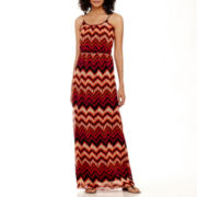 True Color Sleeveless Cinch-Waist Maxi Dress - Tall