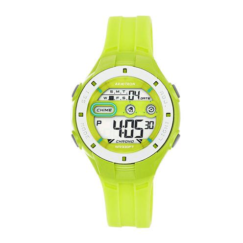 Armitron Womens Green Strap Watch-45/7067lgn