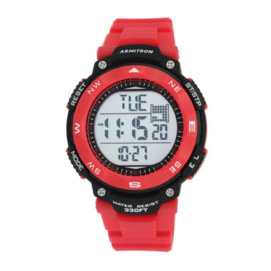 jcpenney.com | Armitron Mens Red Strap Watch-40/8254red