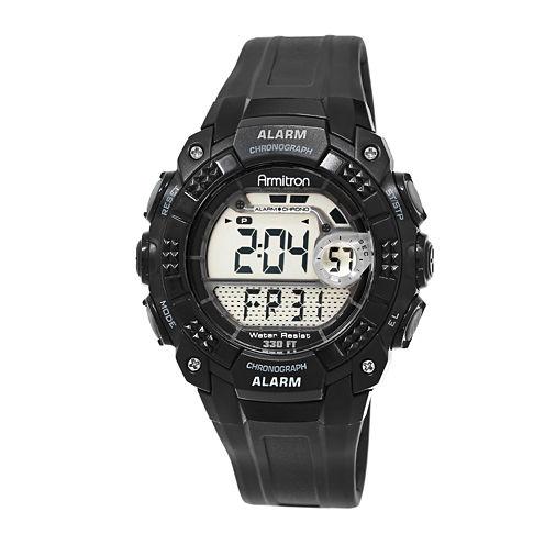 Armitron® Mens Pro Sport All Black Digital Strap Watch 40/8209BLK