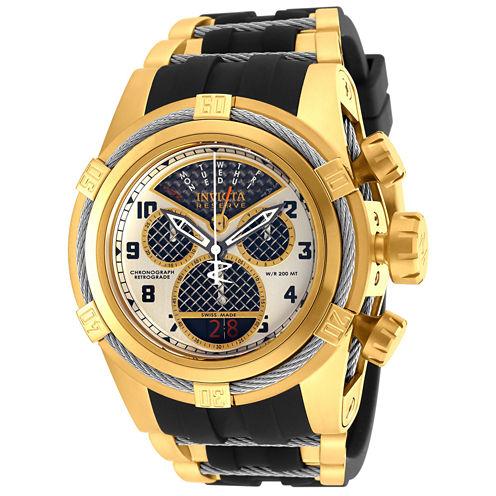 Invicta Mens Black Bracelet Watch-16317
