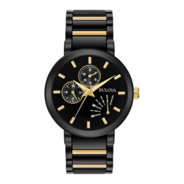 jcpenney.com | Bulova® Mens Black And Gold Tone Classic BraceletWatch 98C124