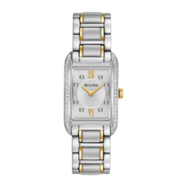 jcpenney.com | Bulova® Womens Two-Tone Diamonds Collection Bracelet Watch 98R227