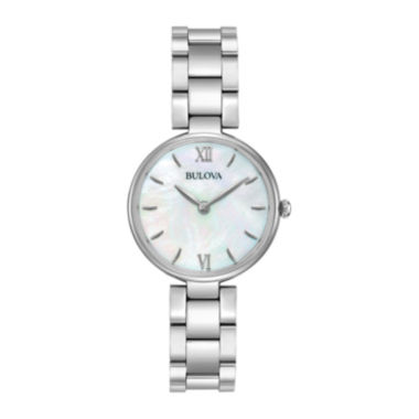 jcpenney.com | Bulova® Womens Silver Tone Mother Of Pearl Dial Classic Bracelet Watch 96L229