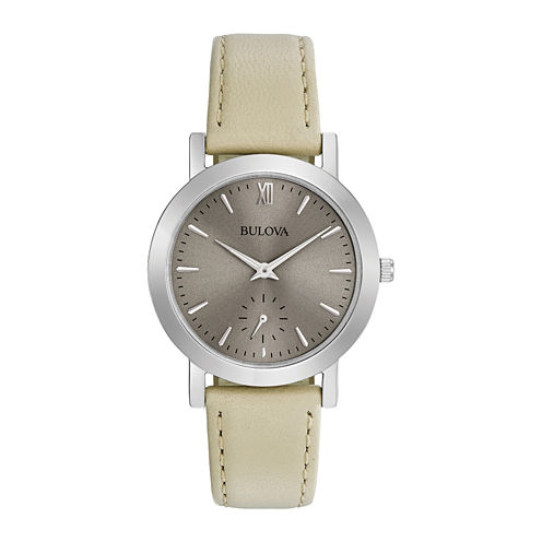 Bulova Womens Brown Strap Watch-96l233