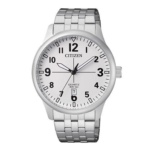 Citizen Quartz Mens Silver Tone Bracelet Watch-Bi1050-81b