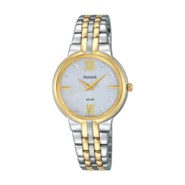 jcpenney.com | Pulsar Womens Two Tone Bracelet Watch-Py5024