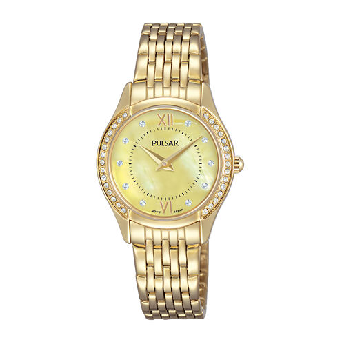 Pulsar Womens Gold Tone Bracelet Watch-Pm2236