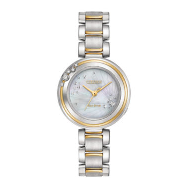 jcpenney.com | Citizen® Eco-Drive Womens Two Tone Carina Diamond Accent Bracelet Watch EM0464-59D