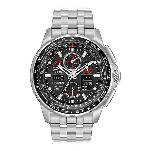 Citizen® Eco-Drive Mens Silver Tone Skyhawk A-T Bracelet Watch JY8050-51E