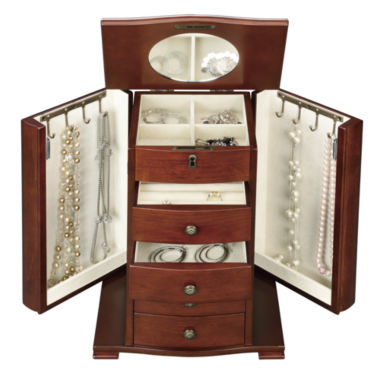 jcpenney.com | Monet Jewelry Walnut Jewelry Box