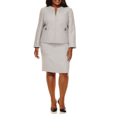 jcpenney.com | Isabella Long-Sleeve Skirt Suit Set - Plus