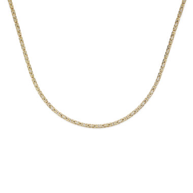 jcpenney.com | 14K Two-Tone Gold 080 Solid Byzantine Chain Necklace