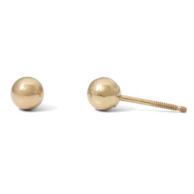 jcpenney.com | Children's 14K Yellow Gold 4mm Ball Stud Earrings