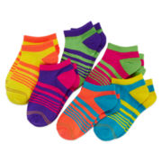 Gold Toe® 6-pk. Neon Liner Socks - Girls