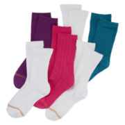 Gold Toe® 6-pk. Textured Crew Socks - Girls