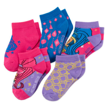 jcpenney.com | Shimmer and Shine 5-pk. Shorty Socks - Girls