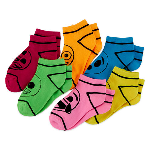 Emoji 6-pk. Crayon Socks