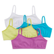 Maidenform 4-pk. Purple, Blue and Lime Crop Bras