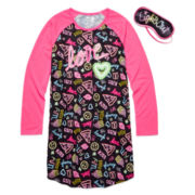 Star Ride Kids Love Nightshirt with Eye Mask - Girls 7-20