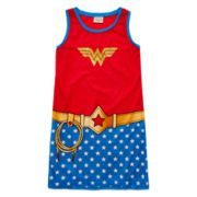 Sleeveless Wonder Woman Sleep Shirt - Girls