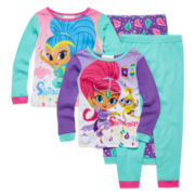 Shimmer and Shine 4-pc. Pajama Set - Toddler Girls 2t-5t