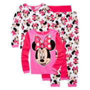 4-pc. Minnie Mouse Sleepwear Set - Girls