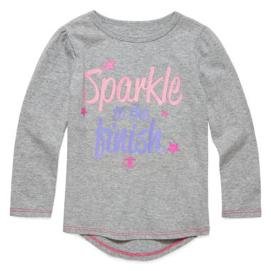 jcpenney.com | Champion® Long-Sleeve Sparkle Finish Tee - Preschool Girls 4-6x