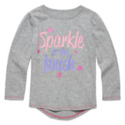 Champion® Long-Sleeve Sparkle Finish Tee - Preschool Girls 4-6x