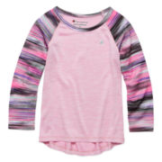 Champion® Long-Sleeve Mesh Raglan Tee - Toddler Girls 2t-4t