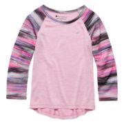 Champion® Long-Sleeve Mesh Raglan Tee - Toddler Girls 2t-4t