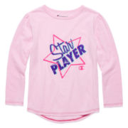 Champion® Long-Sleeve Star Player Tee - Preschool Girls 4-6x