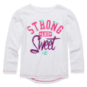 Champion® Long-Sleeve Strong Sweet Tee - Preschool Girls 4-6x